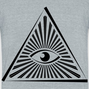 Illuminati - Unisex Tri-Blend T-Shirt by American Apparel