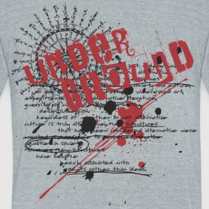 Underground - Unisex Tri-Blend T-Shirt by American Apparel