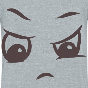Angry face on your t-shirt - Unisex Tri-Blend T-Shirt by American Apparel