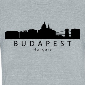 Budapest Hungary Skyline - Unisex Tri-Blend T-Shirt by American Apparel