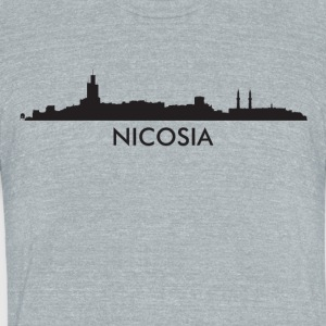 Nicosia Cyprus Skyline - Unisex Tri-Blend T-Shirt by American Apparel
