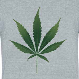 Pot Leaf - Unisex Tri-Blend T-Shirt by American Apparel