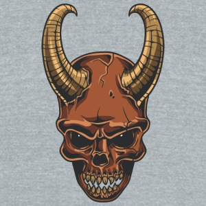 coat_horn_demon_skull - Unisex Tri-Blend T-Shirt by American Apparel