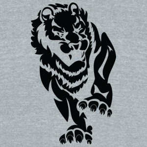angry_big_lion_black - Unisex Tri-Blend T-Shirt by American Apparel
