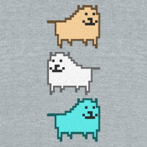 DOG_UNDERTALE - Unisex Tri-Blend T-Shirt by American Apparel