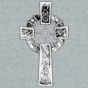 christian_cross_14 - Unisex Tri-Blend T-Shirt by American Apparel