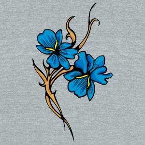 double_blue - Unisex Tri-Blend T-Shirt by American Apparel