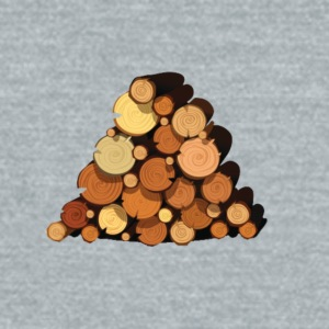 Log Design - Unisex Tri-Blend T-Shirt by American Apparel