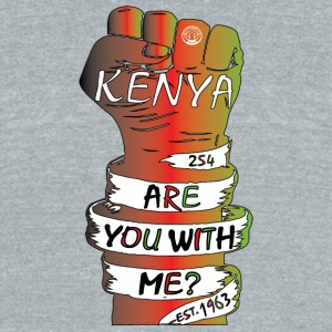 Kenya Are You With Me Movement T-Shirt - Unisex Tri-Blend T-Shirt by American Apparel