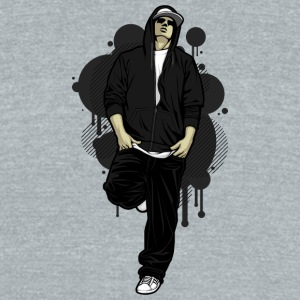 rapper_front_of_wall - Unisex Tri-Blend T-Shirt by American Apparel