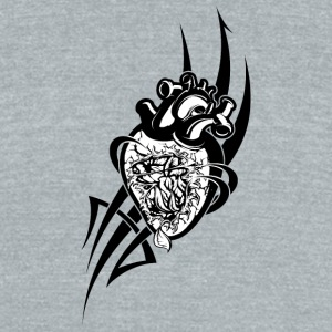 black_heart - Unisex Tri-Blend T-Shirt by American Apparel