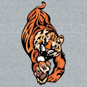 tiger_trying_to_reach_hunt - Unisex Tri-Blend T-Shirt by American Apparel