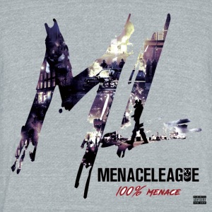 Menace League 100% Menace - Unisex Tri-Blend T-Shirt by American Apparel