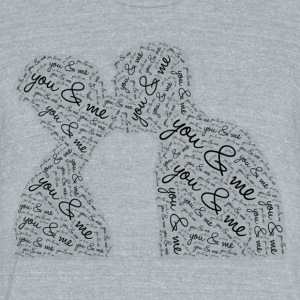 You and me - Unisex Tri-Blend T-Shirt by American Apparel