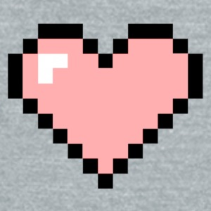 Heart Pink Pixels - Unisex Tri-Blend T-Shirt by American Apparel