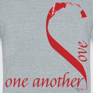 Love_one_another - Unisex Tri-Blend T-Shirt by American Apparel