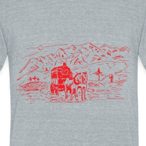 LOVE HORSE - Unisex Tri-Blend T-Shirt by American Apparel