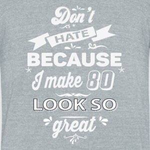 80th birthday designs - Unisex Tri-Blend T-Shirt by American Apparel