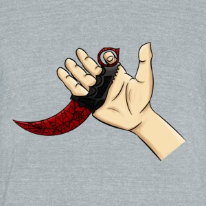 Karambit Crimson Web - Unisex Tri-Blend T-Shirt by American Apparel