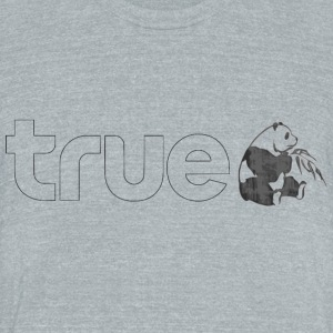 True Panda linear - Unisex Tri-Blend T-Shirt by American Apparel