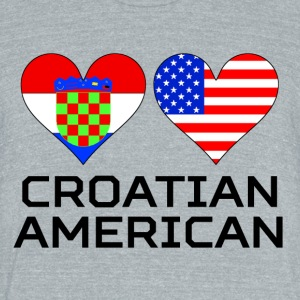 Croatian American Hearts - Unisex Tri-Blend T-Shirt by American Apparel