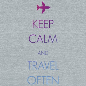 Keep calm and travel often - Unisex Tri-Blend T-Shirt by American Apparel