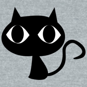 black_cat - Unisex Tri-Blend T-Shirt by American Apparel