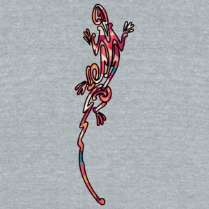 lizard_12_color - Unisex Tri-Blend T-Shirt by American Apparel