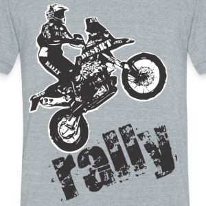 Desert Rally motorcycle - Unisex Tri-Blend T-Shirt by American Apparel