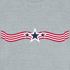 USA flag T-shirt - Unisex Tri-Blend T-Shirt by American Apparel