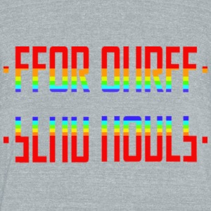 SEND NUDES /hidden message/rainbow - Unisex Tri-Blend T-Shirt by American Apparel