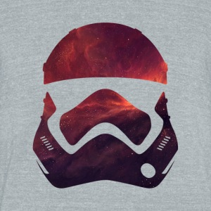 storm trooper nebula helmet - Unisex Tri-Blend T-Shirt by American Apparel