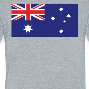 Flag of Australia Cool Australian Flag - Unisex Tri-Blend T-Shirt by American Apparel