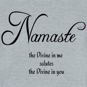 Namaste - Unisex Tri-Blend T-Shirt by American Apparel