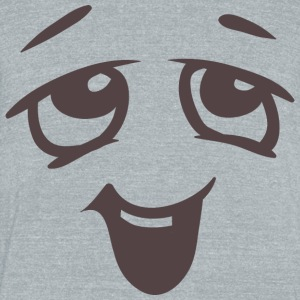 Relaxed face - Emotional face - Unisex Tri-Blend T-Shirt by American Apparel