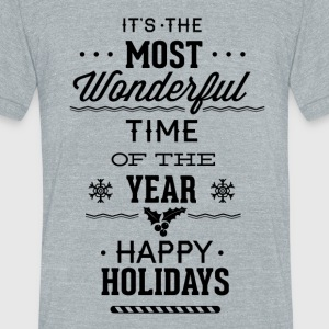 Its mos wonderful time of the year - Unisex Tri-Blend T-Shirt by American Apparel