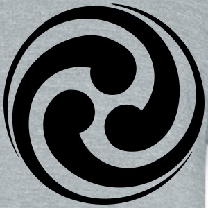 Yin-Yang - Unisex Tri-Blend T-Shirt by American Apparel