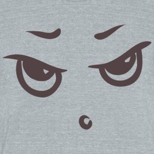 Sour face - Emotional face - Unisex Tri-Blend T-Shirt by American Apparel
