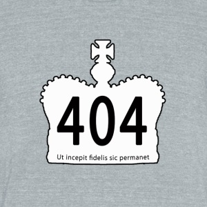 404-white-motto - Unisex Tri-Blend T-Shirt by American Apparel