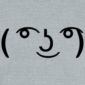 Le Lenny Face - Unisex Tri-Blend T-Shirt by American Apparel