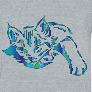 cat - Unisex Tri-Blend T-Shirt by American Apparel