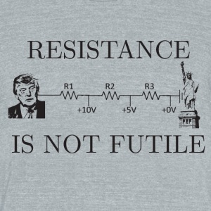 resistance is not futile - Unisex Tri-Blend T-Shirt by American Apparel