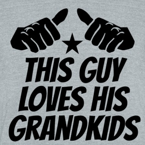 This Guy Loves His Grandkids - Unisex Tri-Blend T-Shirt by American Apparel