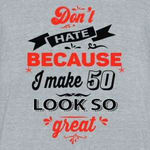 50th birthday designs - Unisex Tri-Blend T-Shirt by American Apparel