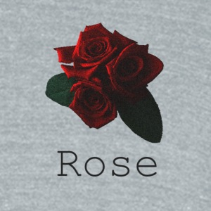 Rose [Black] - Unisex Tri-Blend T-Shirt by American Apparel