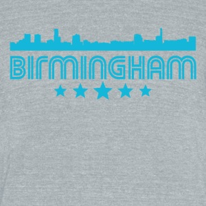 Retro Birmingham Skyline - Unisex Tri-Blend T-Shirt by American Apparel