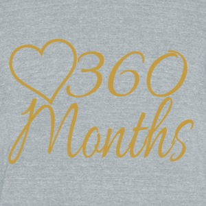 360 Months - Unisex Tri-Blend T-Shirt by American Apparel