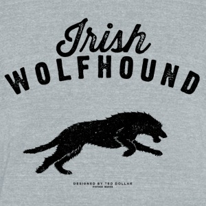 Irish Wolfhound - Unisex Tri-Blend T-Shirt by American Apparel