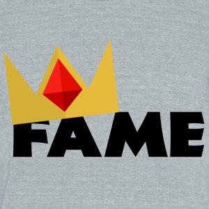 Fame - Unisex Tri-Blend T-Shirt by American Apparel