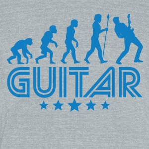 Retro Guitar Evolution - Unisex Tri-Blend T-Shirt by American Apparel